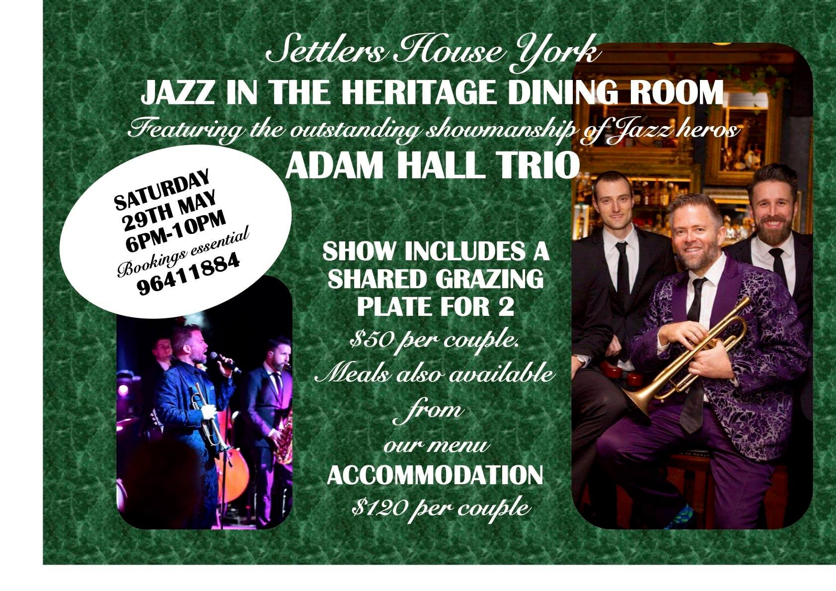 Jazz in the Heritage Dining Room at Settlers House