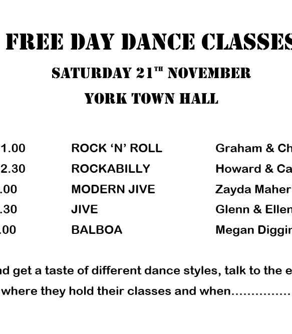 Free Day Dance Classes