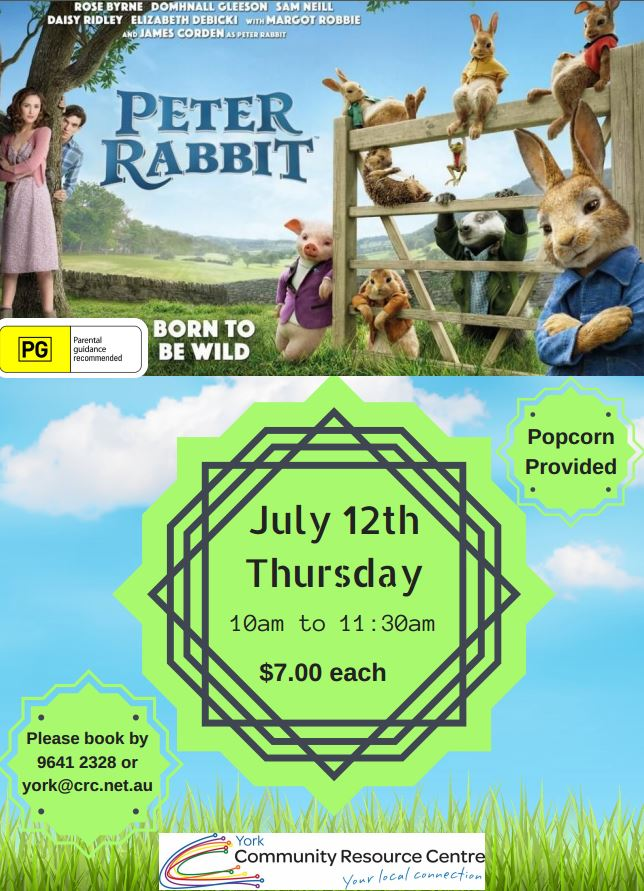 Peter Rabbit Movie Showing