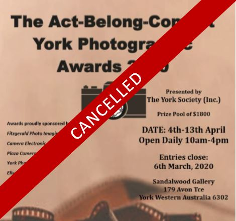 EVENT CANCELLED - York Photographic Awards 2020