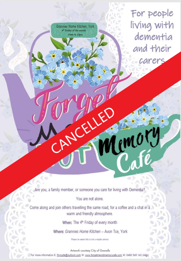 EVENT CANCELLED - Forget-Me-Not Memory Cafe